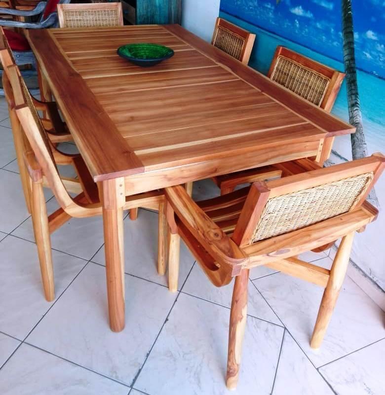 Innova & Decora - Comedores en madera teca 1