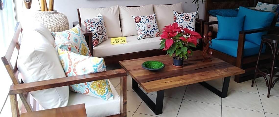 Innova & Decora - Salas en madera rustica 3