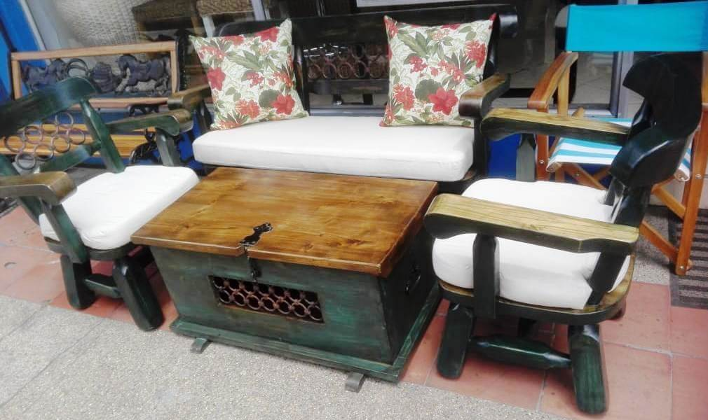 Innova & Decora - Salas en madera rustica 1